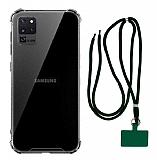 Dafoni Hummer Samsung Galaxy S20 Ultra Yeşil Askılı Ultra Koruma Kılıf