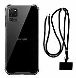 Dafoni Hummer Samsung Galaxy S20 Ultra Siyah Askılı Ultra Koruma Kılıf