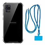 Dafoni Hummer Samsung Galaxy S20 Ultra Mavi Askılı Ultra Koruma Kılıf