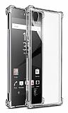 Dafoni Hummer Sony Xperia XA1 Plus Ultra Koruma Silikon Kenarlı Şeffaf Kılıf