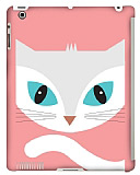 Dafoni iPad 2 / iPad 3 / iPad 4 Big Face Cat Smart Cover Uyumlu Rubber K�l�f