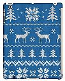 Dafoni iPad 2 / iPad 3 / iPad 4 Sweater Deer Smart Cover Uyumlu Mavi Rubber K�l�f
