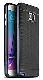 Dafoni iPaky Samsung Galaxy Note 5 Ultra Koruma Lacivert Kılıf