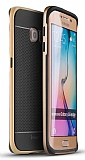 Dafoni iPaky Samsung Galaxy S6 Edge Ultra Koruma Gold Kılıf