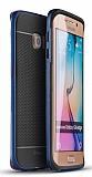 Dafoni iPaky Samsung Galaxy S6 Edge Ultra Koruma Lacivert Kılıf