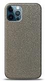 Dafoni iPhone 12 Pro Max Silver Parlak Simli Telefon Kaplama