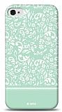 Dafoni iPhone 4 / 4S Green Flower K�l�f