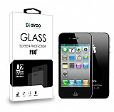 Eiroo iPhone 4 / 4S Ön + Arka Tempered Glass Cam Ekran Koruyucu