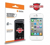 Dafoni iPhone 4 / 4S Slim Triple Shield Ekran Koruyucu