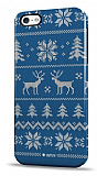 Dafoni iPhone 4 / 4S Sweater Deer Mavi Rubber K�l�f