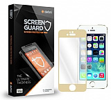 Dafoni iPhone SE / 5 / 5S / 5C Gold Tempered Glass Premium Cam Ekran Koruyucu