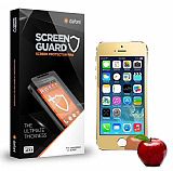 Dafoni iPhone SE / 5 / 5S Tempered Glass Ayna Gold Cam Ekran Koruyucu