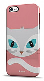 Dafoni iPhone 5 / 5S Big Face Cat Rubber K�l�f