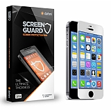 Dafoni iPhone 5 / 5S Metal Kenarl� Tempered Glass Premium Silver Cam Ekran Koruyucu