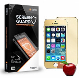 Dafoni iPhone SE / 5 / 5S Ön + Arka Tempered Glass Ayna Gold Cam Ekran Koruyucu