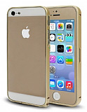Dafoni iPhone 5 / 5s Gold �n+Arka Cam EKF ve Bumper �er�eve K�l�f