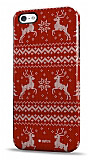 Dafoni iPhone 5 / 5S Sweater Deer K�rm�z� Rubber K�l�f