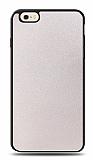 Dafoni iPhone 6 / 6S Silikon Kenarlı Simli Beyaz Kılıf