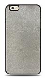 Dafoni iPhone 6 / 6S Silikon Kenarlı Simli Silver Kılıf