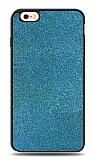 Dafoni iPhone 6 / 6S Silikon Kenarlı Simli Mavi Kılıf
