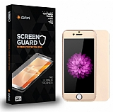 Dafoni iPhone 6 / 6S Tempered Glass Premium Gold Ön + Arka Metal Kavisli Ekran Koruyucu