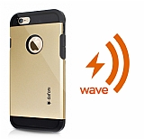 Dafoni iPhone 6 / 6S Wave Slim Power Kablosuz Sarj Eden Gold K�l�f