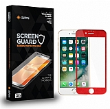 Dafoni iPhone 6 Plus / 6S Plus Curve Tempered Glass Premium Kırmızı Full Cam Ekran Koruyucu