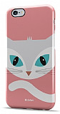 Dafoni iPhone 6 Plus / 6S Plus Big Face Cat Rubber Kılıf