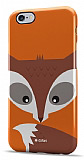 Dafoni iPhone 6 Plus / 6S Plus Big Face Fox Rubber K�l�f