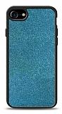 Dafoni iPhone 7 / 8 Silikon Kenarlı Simli Mavi Kılıf