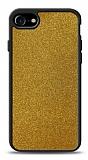 Dafoni iPhone 7 / 8 Silikon Kenarlı Simli Gold Kılıf