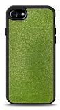 Dafoni iPhone 7 / 8 Silikon Kenarlı Simli Yeşil Kılıf