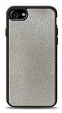 Dafoni iPhone 7 / 8 Silikon Kenarlı Simli Silver Kılıf