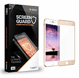 Dafoni iPhone 7 Curve Tempered Glass Premium Gold Full Cam Ekran Koruyucu