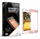 Dafoni iPhone 7 / 8 Curve Tempered Glass Premium Rose Gold Full Cam Ekran Koruyucu