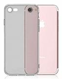 Dafoni iPhone 7 Kamera Korumalı Şeffaf Siyah Silikon Kılıf