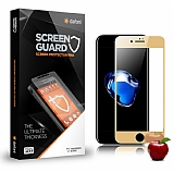Dafoni iPhone 7 / 8 Ön + Arka Tempered Glass Ayna Gold Cam Ekran Koruyucu