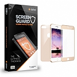 Dafoni iPhone 7 Plus / 8 Plus Ön + Arka Curve Tempered Glass Premium Gold Cam Ekran Koruyucu