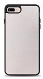 Dafoni iPhone 7 Plus / 8 Plus Silikon Kenarlı Simli Beyaz Kılıf