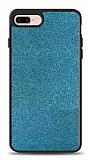 Dafoni iPhone 7 Plus / 8 Plus Silikon Kenarlı Simli Mavi Kılıf