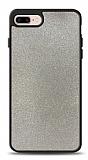 Dafoni iPhone 7 Plus / 8 Plus Silikon Kenarlı Simli Silver Kılıf