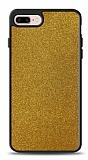 Dafoni iPhone 7 Plus / 8 Plus Silikon Kenarlı Simli Gold Kılıf