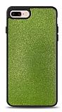 Dafoni iPhone 7 Plus / 8 Plus Silikon Kenarlı Simli Yeşil Kılıf
