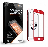 Dafoni iPhone 7 Plus Curve Tempered Glass Premium Kırmızı Full Cam Ekran Koruyucu