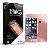 Dafoni iPhone SE / 5 / 5S Ön + Arka Tempered Glass Ayna Rose Gold Cam Ekran Koruyucu