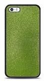 Dafoni iPhone SE / 5 / 5S Silikon Kenarlı Simli Yeşil Kılıf