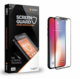 Dafoni iPhone X Curve Tempered Glass Premium Full Siyah Mat Cam Ekran Koruyucu