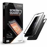 Dafoni iPhone X Ön + Arka Curve Tempered Glass Premium Siyah Cam Ekran Koruyucu