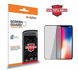 Dafoni iPhone X / XS Slim Triple Shield Siyah Ekran Koruyucu