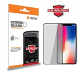 Dafoni iPhone X / XS Curve Slim Triple Shield Siyah Ekran Koruyucu